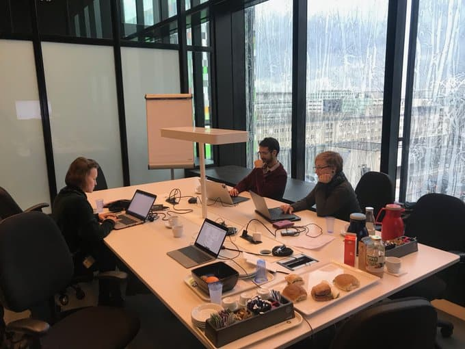 team @UniUtrechtLib working on #Top10FAIR , last edits to the FAIR software guidelines @neocarlitos Lena Karvovskaya, Anna-Lena Lamprecht