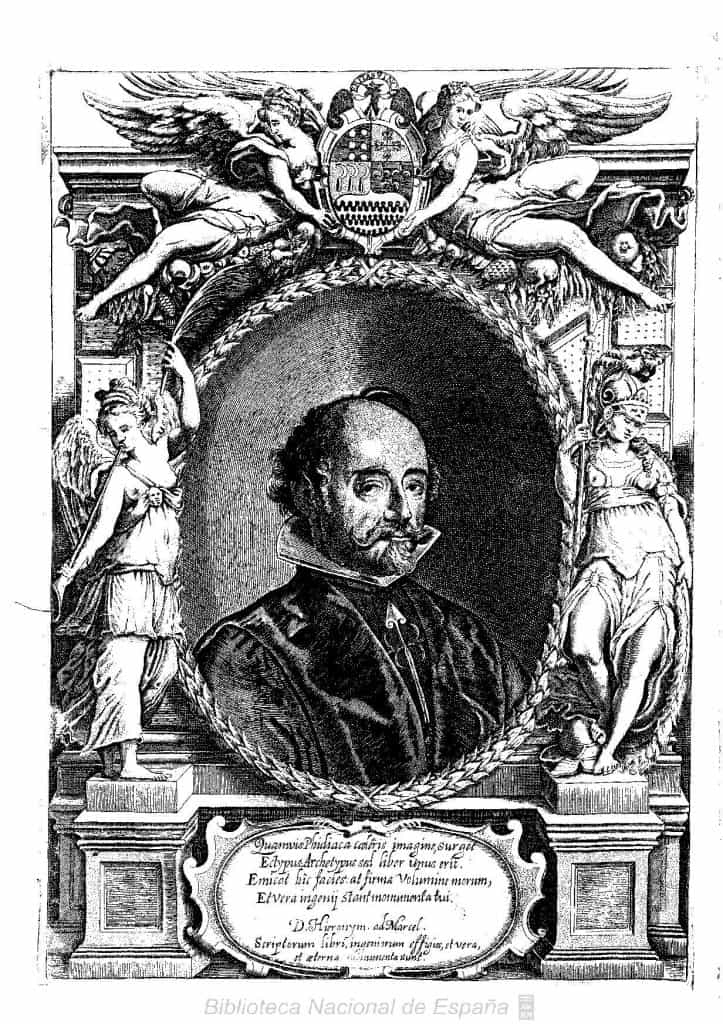 Juan de Solórzano Pereira (1575-1655) was a Spanish jurist who became oidor of Lima and was an early writer on the native law of South America. CC BY 4.0 Roberto Cordier-Biblioteca Nacional de España - http://bdh-rd.bne.es/viewer.vm?id=0000134097&page=1