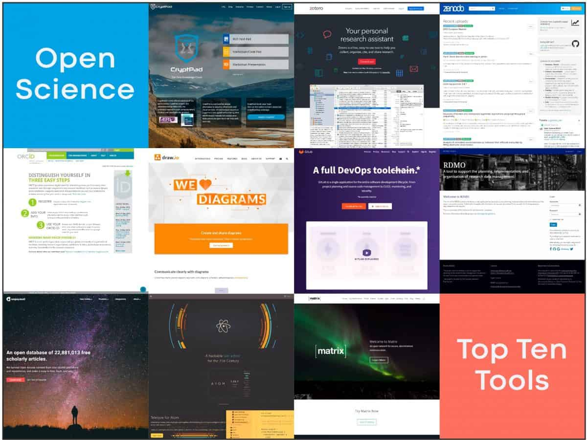 open science top ten tools