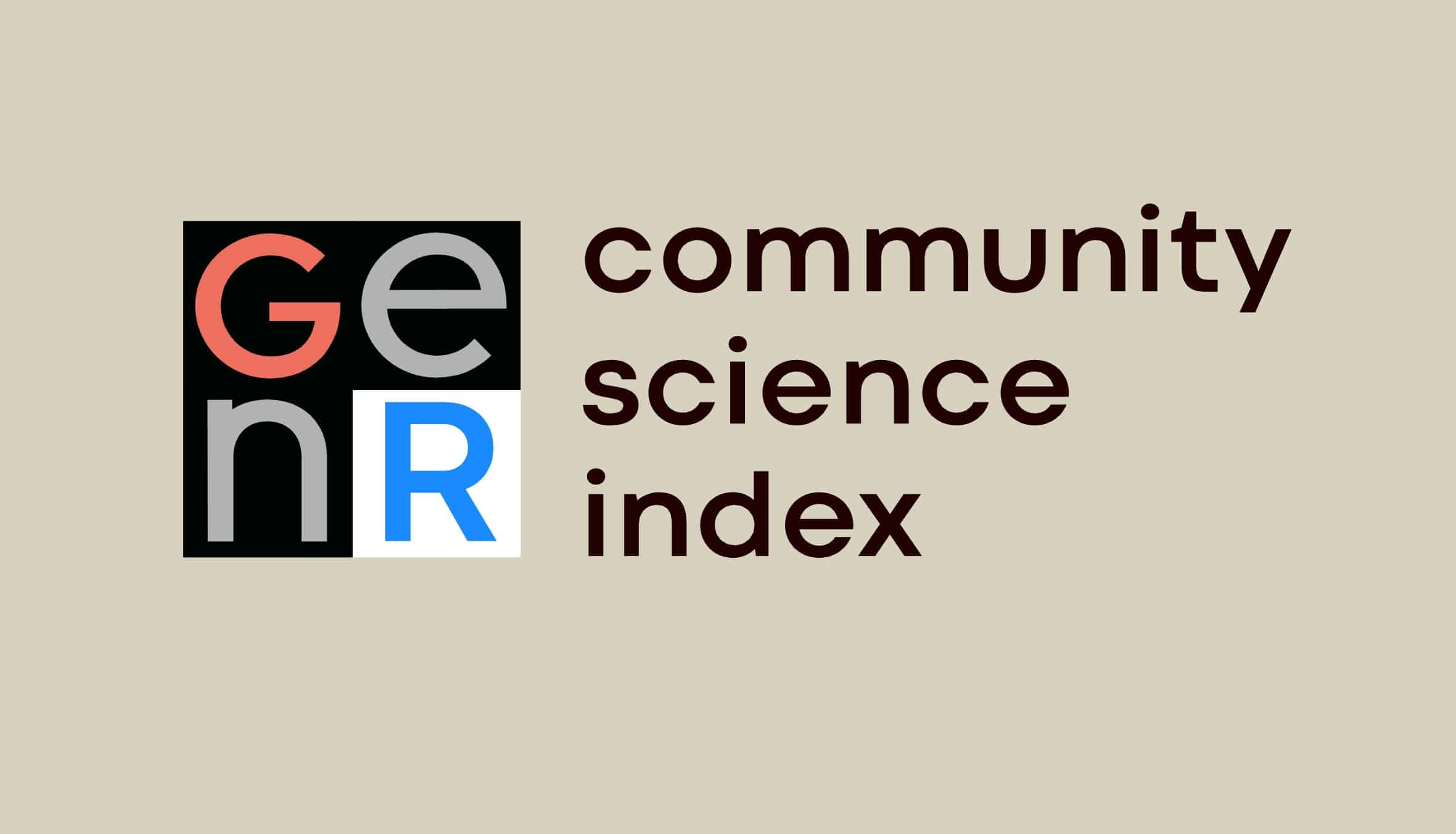 A Community Science (AKA Citizen Science) Index