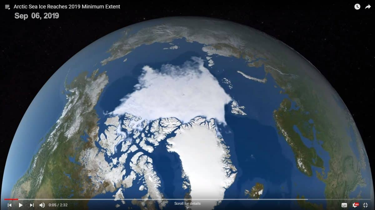 Arctic Sea Ice Reaches 2019 Minimum Extent